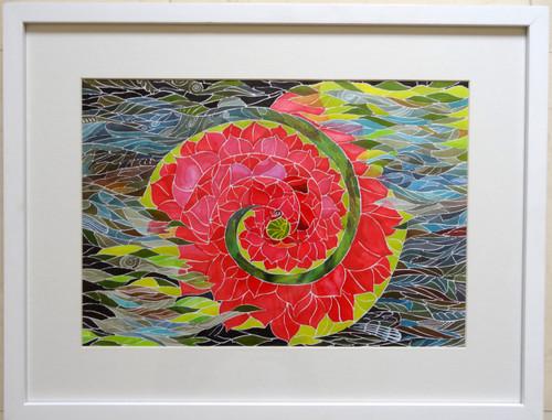 SPIRITUAL, flower, love, naturality, jivasu, shipra, painting, art, ,SELF REALIZATION,ART_1573_13389,Artist : Shipra Gupta,Ink