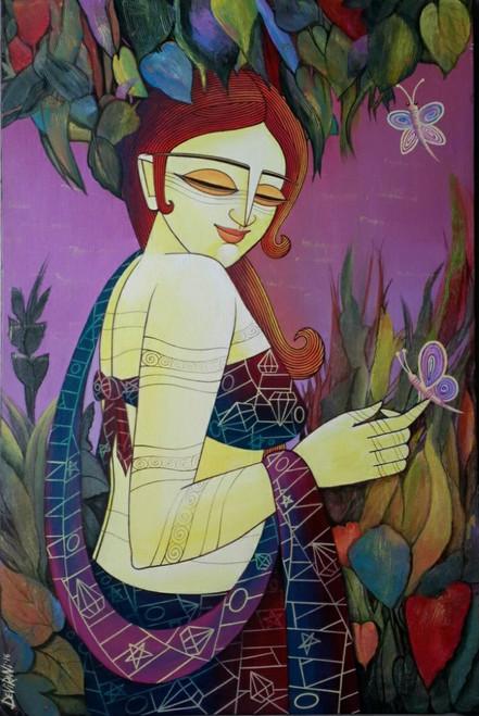 ,Celestial Beauty,ART_1476_13511,Artist : Devirani Dasgupta,Acrylic