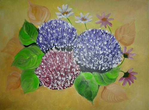 flowers, bliss, pleasent,Floral Beauty,ART_1415_13267,Artist : Priyanka Doiphode,Acrylic