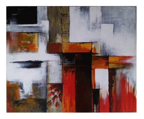 4d47c6816 ABSTRACT PAINTING P-30 (ART_1265_13549) - Handpainted Art Painting - 36in X  30in (Framed)