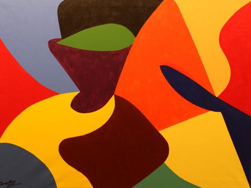 ROJO,VERDE,TOCADO,ART_1593_13462,Artist : Jose Maria Palacin Calvo,Acrylic