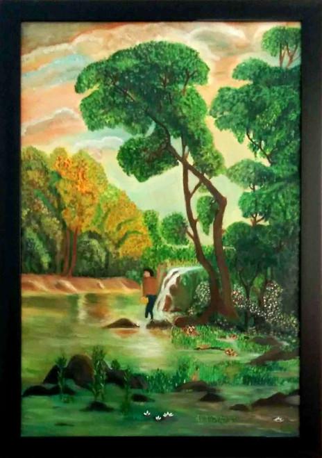 ,fisherman,ART_1606_13559,Artist : Pratibha Hampali,Oil