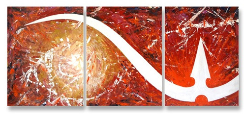 painting-ACRYLIC-paper--ABSTRACT,TRISHUL,ART_1609_13580,Artist : Santosh  Dangare,Acrylic