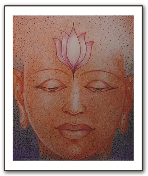painting-pencil-paper--MODERN,BUDHA,ART_1609_13574,Artist : Santosh  Dangare,Pencil