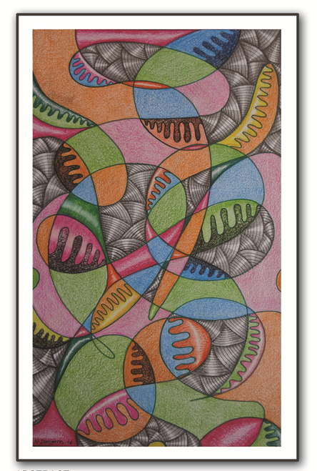 painting-pencil-paper--ABSTRACT,ABSTRACT 02,ART_1609_13569,Artist : Santosh  Dangare,Pencil