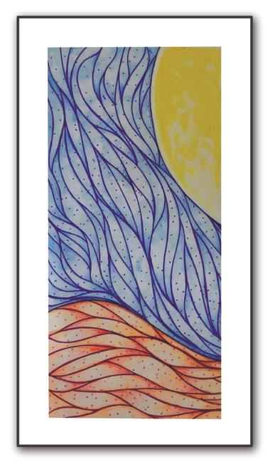 painting-pencil-paper--ABSTRACT,SUN WEVES,ART_1609_13594,Artist : Santosh  Dangare,Pencil