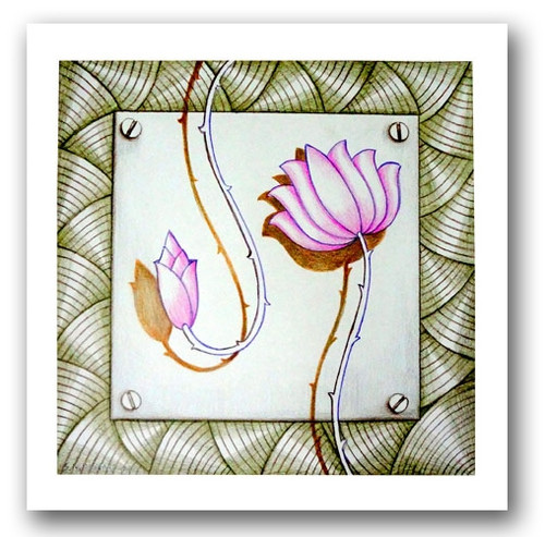 painting-pencil-paper--ABSTRACT,LOTUS BEAUTY-02,ART_1609_13588,Artist : Santosh  Dangare,Pencil