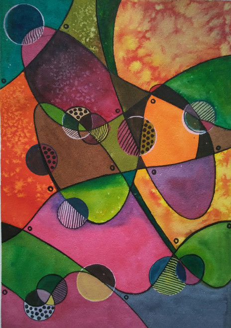,abstract watercolour2,ART_1243_13628,Artist : Ujwala Chavan,Water Colors