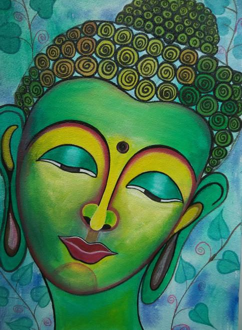,Buddha 2,ART_1243_13656,Artist : Ujwala Chavan,Acrylic