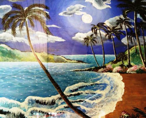 ,Moonlight Sea Beach,ART_1641_13735,Artist : Neha  Ghalsasi,Acrylic