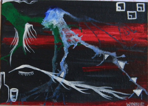 dark, black, drink,Darkness,ART_1670_13811,Artist : Winnie Joshi,Acrylic