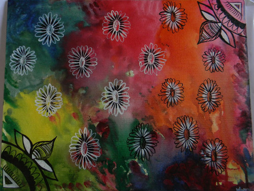 Abstract Floral,Abstract Floral,ART_1670_13801,Artist : Winnie Joshi,Acrylic