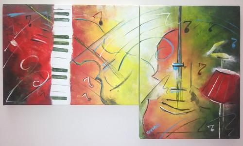 ,JAZZY CELLO,ART_1180_13352,Artist : Vrushali A Kamthe,Acrylic