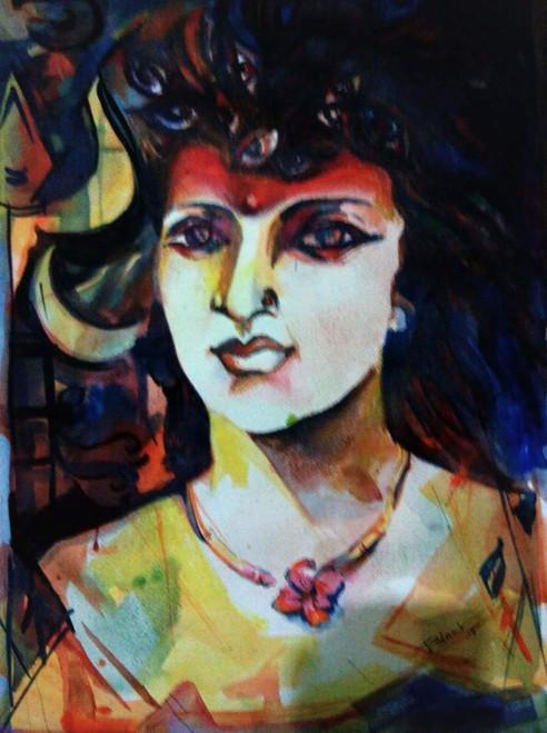 durga, binod kumar das, idol,Durga,ART_1667_13839,Artist : BINOD KUMAR  DAS,Mixed Media
