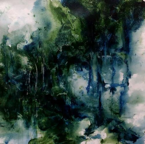 Abstract,Expressionism,Monsoon,A Long Awaited Monsoon,ART_1677_13862,Artist : Kaustav Mukherjee,Acrylic