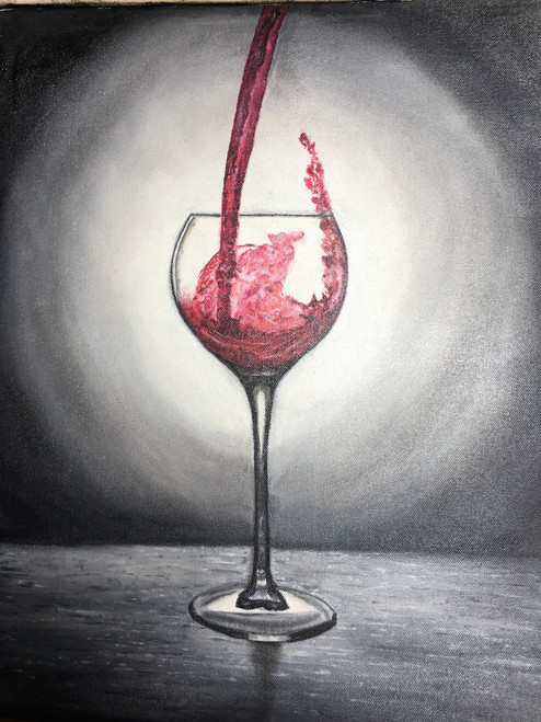 wine, still life, black and white,lets celebrate,ART_1283_13878,Artist : Alisha Gupta,Oil