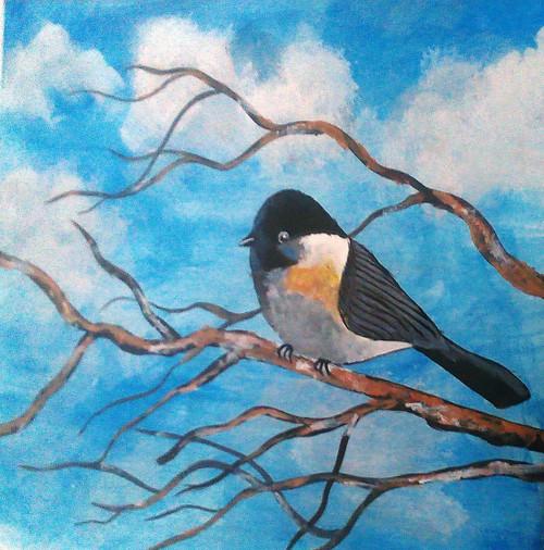 ,Blue Bird,ART_1641_13881,Artist : Neha  Ghalsasi,Acrylic