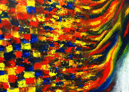 abstract expressionism, passion, emotion, waves,RISE OF PASSION,ART_1665_13792,Artist : SAIKAT  BAKSI,Acrylic