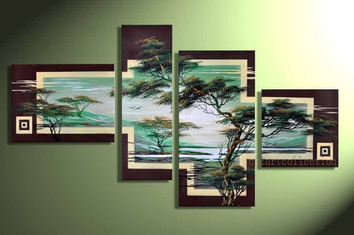 Tree Furnish 3 - 60in X 32in,RTCSB_37_6032,Oil Colors,Museum Quality - 100% Handpainted,Multipiece Paintings,Tree painting,Tree of Life,Beautilful Tree  - Buy Painting Online in India.