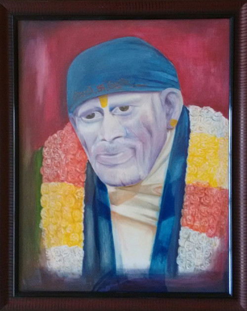 ,Sai Baba,ART_1703_14012,Artist : Gopal Rao,Oil
