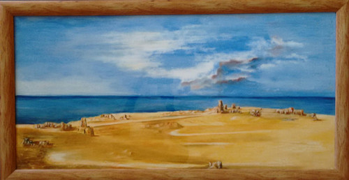 lonely,Desert Near Sea,ART_1703_14010,Artist : Gopal Rao,Oil