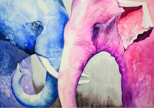Elephant, GOD, Ganesha, Religious ,Empathy,ART_1725_14164,Artist : SANTANU MAITY,Water Colors