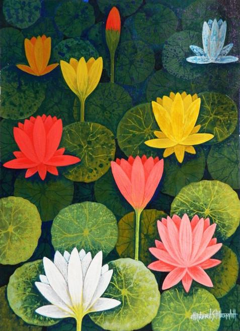 Lotus,LotusCSH0018 ,ART_223_14156,Artist : Chandru S Hiremath,Acrylic
