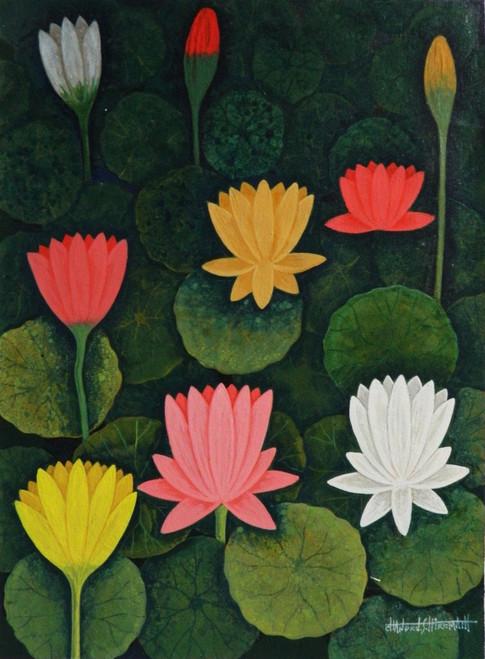 Lotus,LotusCSH0016 ,ART_223_14154,Artist : Chandru S Hiremath,Acrylic
