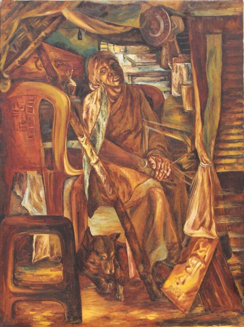 REALITY,AFTER THE DUTY,ART_1709_14187,Artist : RAKA PANDA,Oil
