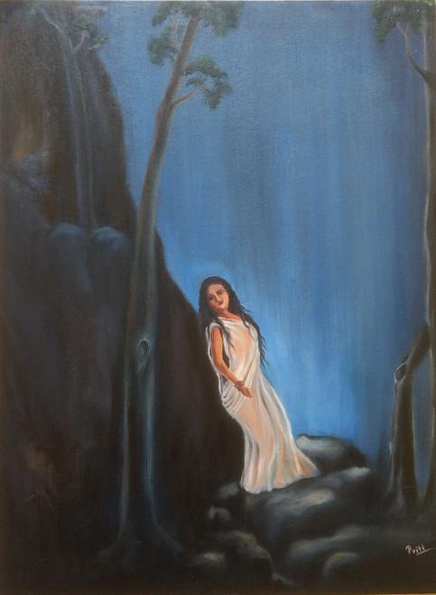 Erotic,Ahalya's wait...,ART_1729_14213,Artist : PRITI PARDESHI,Oil