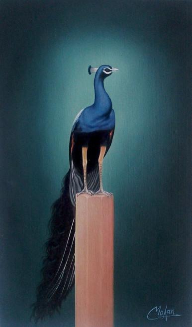 peacock,Peacock,ART_1090_14410,Artist : Mohan Verma,Oil