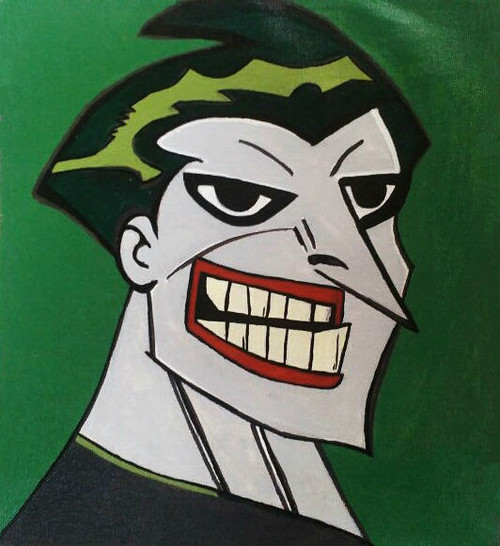 fictional supervillain animated cartoon,Joker cartoon Animated series,ART_1755_14391,Artist : Akshata  Sawant,Acrylic