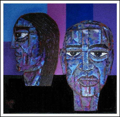 Heads,Misaligned,ART_1508_14332,Artist : Anil Lakhera,Acrylic