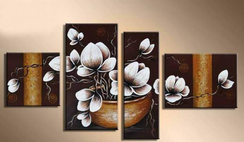 Spread The Love - 60in X 32in,RTCSB_39_6032,Oil Colors,Museum Quality - 100% Handpainted,Multipiece Paintings,Floral Art,Flower,Beautiful Flower - Buy Painting Online in India.