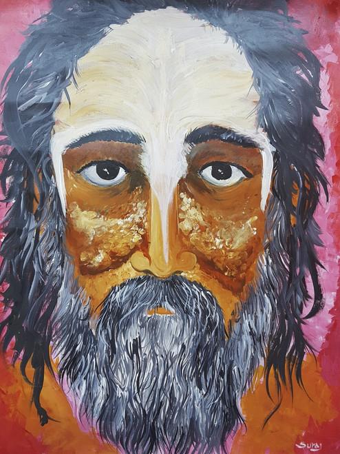 monk, hindu, sadhu, faith, peace ,the survival monk,ART_1734_14336,Artist : Suraj Prajapati,Acrylic