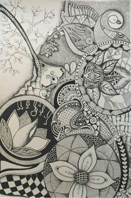 ,ABSTRACT NATURE,ART_1752_14361,Artist : Yogita  Deshpande,Ink