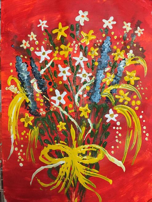 ,FLORAL BUNCH FOR NEW YEAR,ART_1752_14357,Artist : Yogita  Deshpande,Acrylic