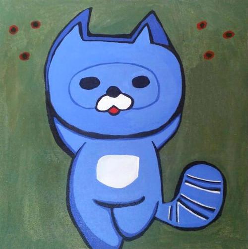 Anime Cartoon Charaters,oo-kun Animax asia poster,ART_1755_14369,Artist : Akshata  Sawant,Acrylic