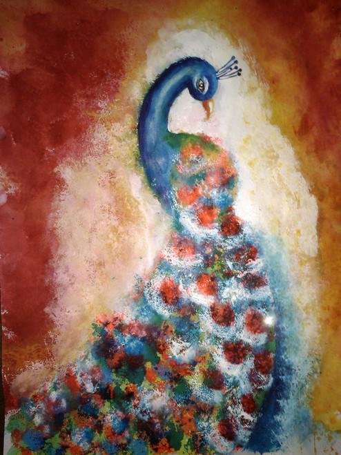 peacock,abstract peacock,ART_1752_14362,Artist : Yogita  Deshpande,Acrylic