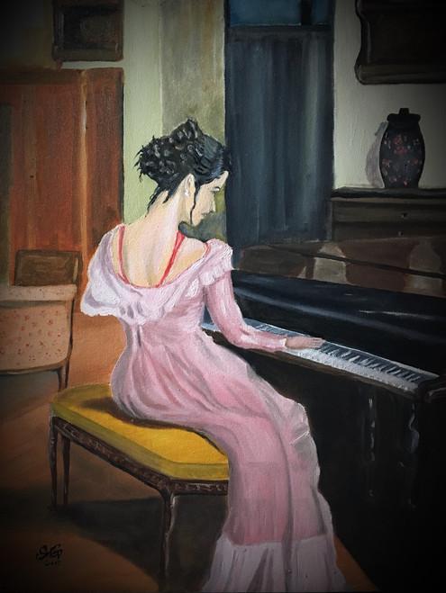 ,Rythm on Piano,ART_168_14546,Artist : Subhash Gijare,Oil