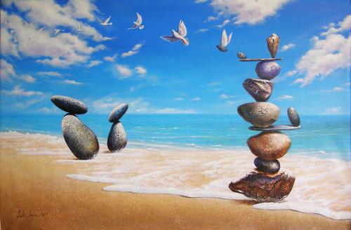 acrylic on canvas,seascape, fantasy,Surrealism,Ichcha,ART_1790_14521,Artist : Sabir Haque,Acrylic