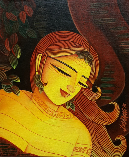,Glowing Night,ART_836_5566,Artist : Debkumar Bhattacharyya (Seller),Acrylic