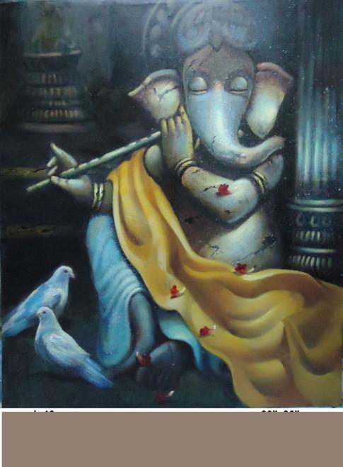 ,Ganesh 10,ART_836_5414,Artist : Debkumar Bhattacharyya (Seller),Acrylic