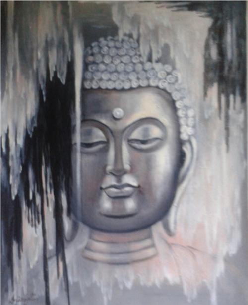 ,Budha 2,ART_836_14311,Artist : Debkumar Bhattacharyya (Seller),Acrylic