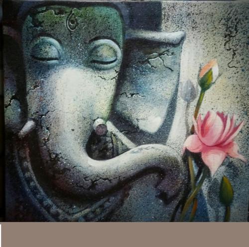 ,Ganesh 18,ART_836_5407,Artist : Debkumar Bhattacharyya (Seller),Acrylic