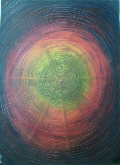 ,Way to Eternity,ART_836_4143,Artist : Debkumar Bhattacharyya (Seller),Acrylic