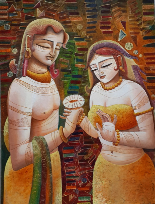 ,Radha &Krishna3,ART_836_4139,Artist : Debkumar Bhattacharyya (Seller),Acrylic
