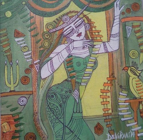 ,Queen 1,ART_836_4132,Artist : Debkumar Bhattacharyya (Seller),Acrylic