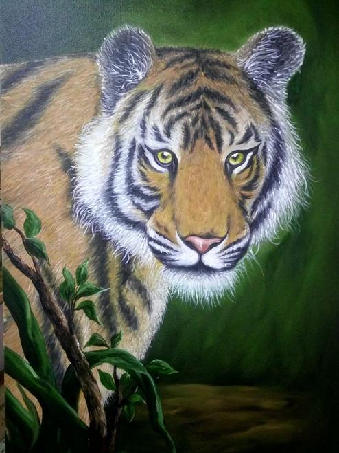 Tiger,TIGER,ART_1815_14638,Artist : SHEKHAR BALAIAH,Oil