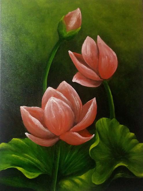 FLOWER,FLOWER,ART_1815_14637,Artist : SHEKHAR BALAIAH,Oil